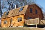 Gambrel Log Home
