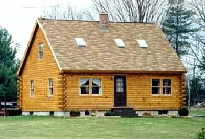 Cape I Log Home