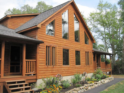 The Companion two-family log home