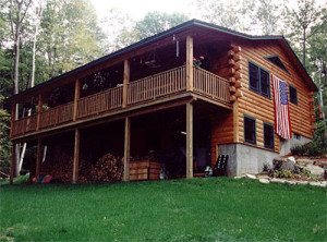 Northern new england log homes vacation homes for New hampshire log cabins