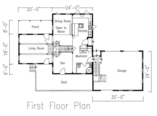 Agamenticus Timber Frame Post & Beam Home 1st floor floorpan
