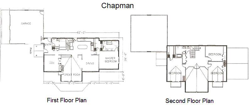 Chapman Timber Frame Post & Beam Home floorplan