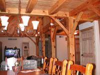 Timber frame Curved Braces