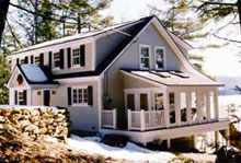 Gambrel log home log home kits plans for Energy efficient kit homes