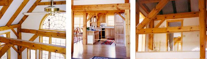 Hollis Timber Frame Post & Beam Home interior