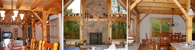 Mechanicsburg Timber Frame Post & Beam Home interior