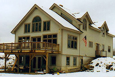 Swanzey Timber Frame Post & Beam Home