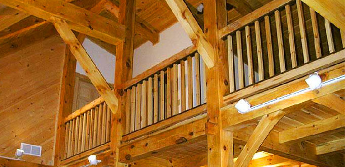 timberframe-loft-railing