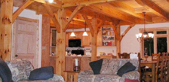 Timber frame house Open Living Spaces