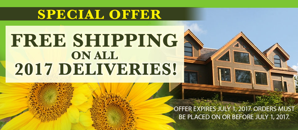 Free Shipping on Log Home & Timber Frame kits