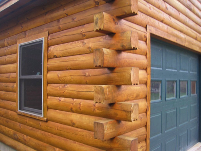 Working hand in hand to build your log home crockett log for Butt and pass log home