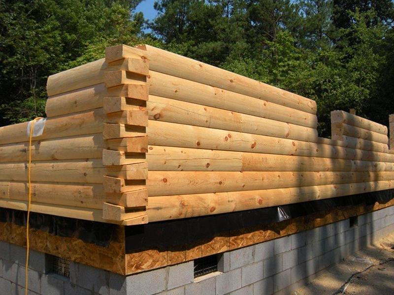 log home 8x8 dovetail corner