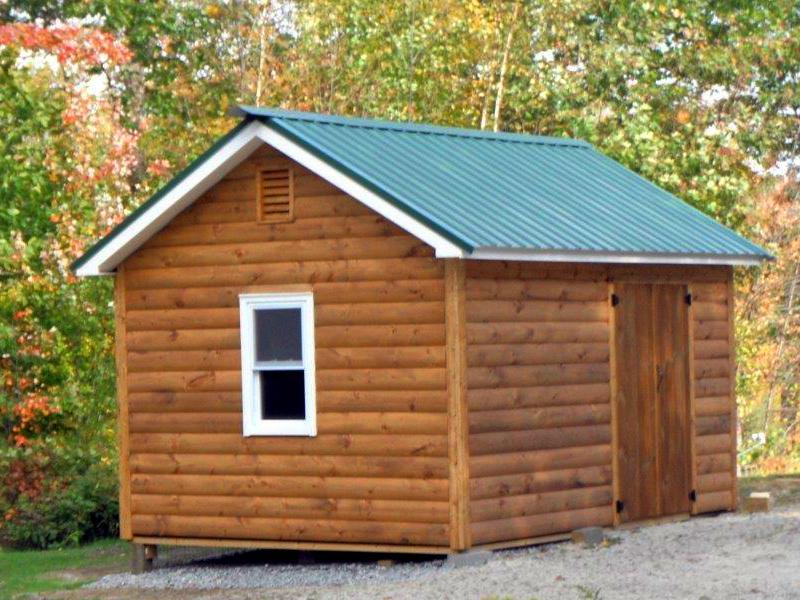 log home shed