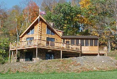 All-American Log Home - Crockett Log Homes