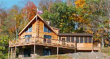 Featured Log Home floorplans