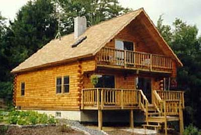 Chalet log home chalet log homes plans kits for Chalet cabin kits