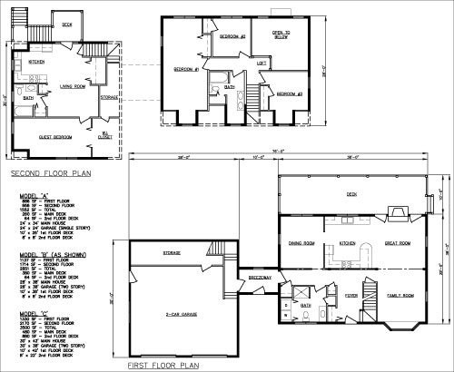 The Freedom 2-family home floorplan