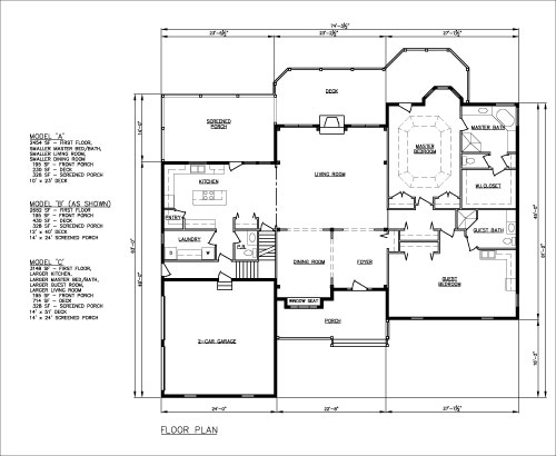 Indepence two-family home floorplan