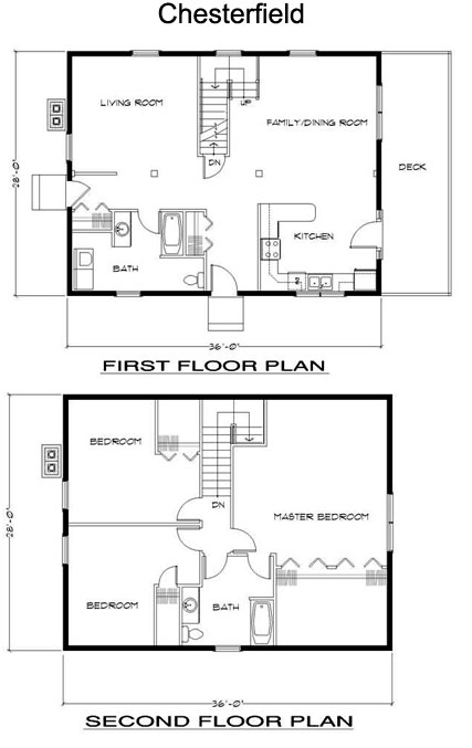 Chesterfield Timber Frame Post and Beam Home floorplan
