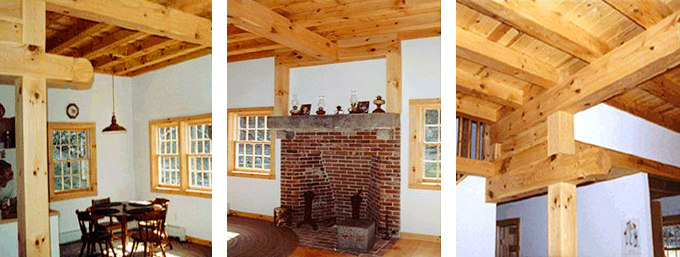 Colony Timber Frame Post & Beam Home interior