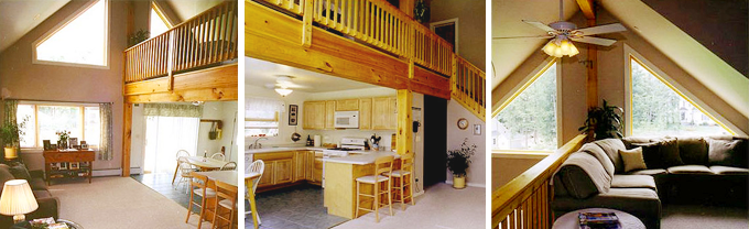 Drummer Hill Timber Frame Post & Beam Home interior