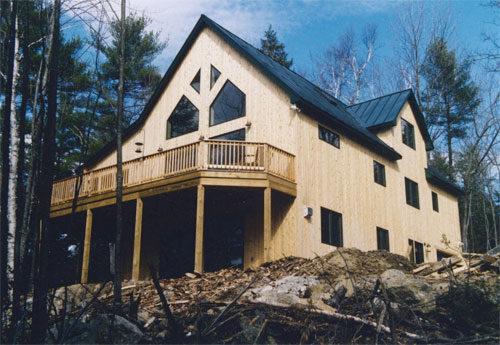 highland lake timber frame home