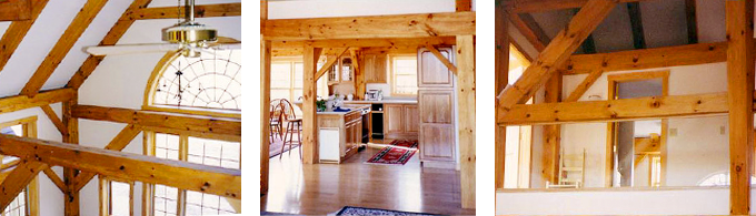 Hollis Timber Frame Post & Beam Home interior