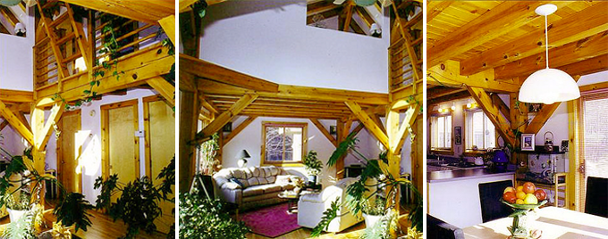 Longview Timber Frame Post & Beam Home interior