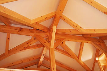 Standard Post & Beam Roof System with SIP Roof Panels