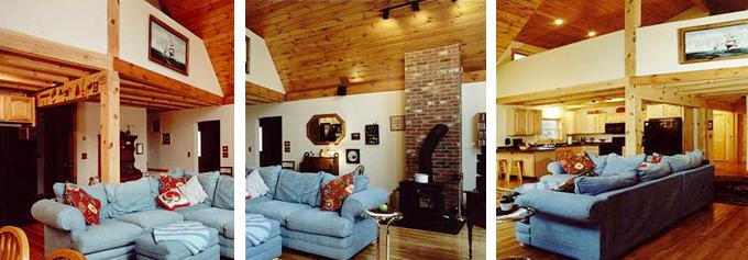 mechanicsburg PA timber frame home interior