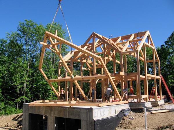 timber frame construction framing