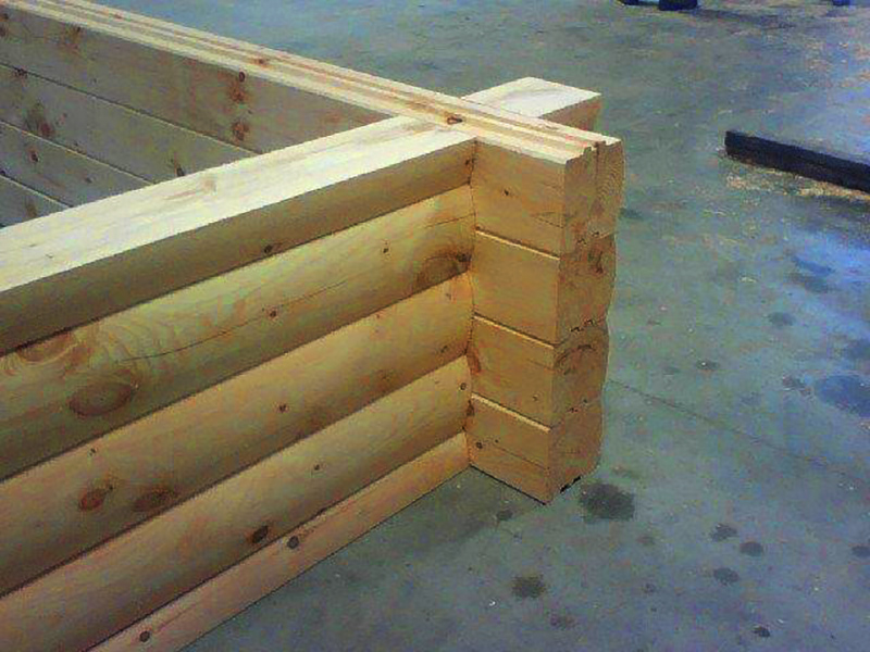 dovetail corner log home construction