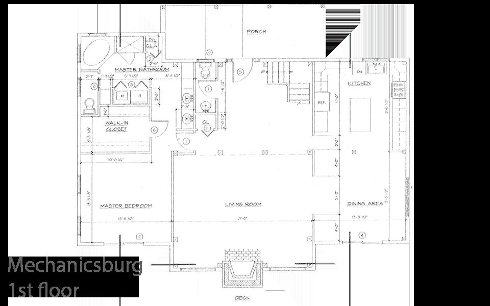 mechanicsburg timber frame floorplan 1st floor
