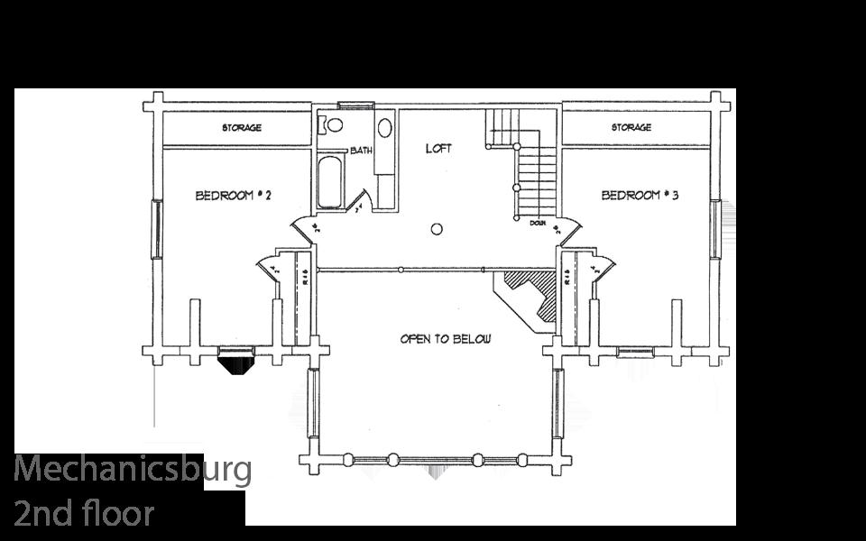 mechanicsburg timber frame floorplan 2nd floor