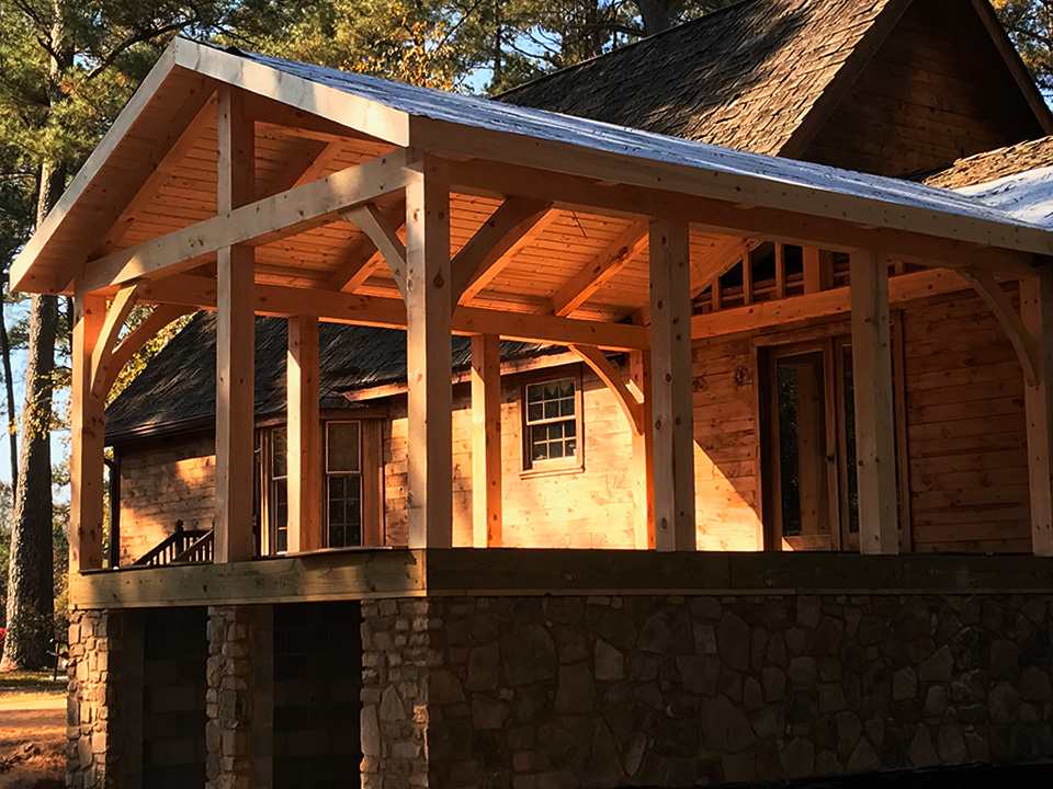 crockett timber frame porch 1