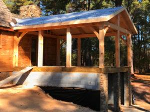 crockett timber frame porch 2