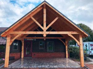 crockett timber frame porch 4